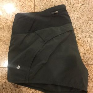 Army green lululemon shorts